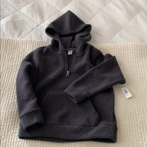 NWT Old Navy Boys Fleece Gray Pullover Sweatshirt